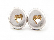 Latham & Neve Collections - Pebble - Pebble Heart studs