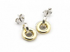 Latham & Neve Collections - Ripple - Ripple Hoop Studs silver/18ct