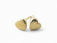 Latham & Neve Collections - Ripple Pebble - Ripple Pebble Heart Studs gold