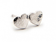 Latham & Neve Collections - Ripple Pebble - Ripple Pebble Heart Studs