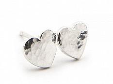 Latham & Neve Collections - Ripple Pebble - Ripple Pebble Heart Studs
