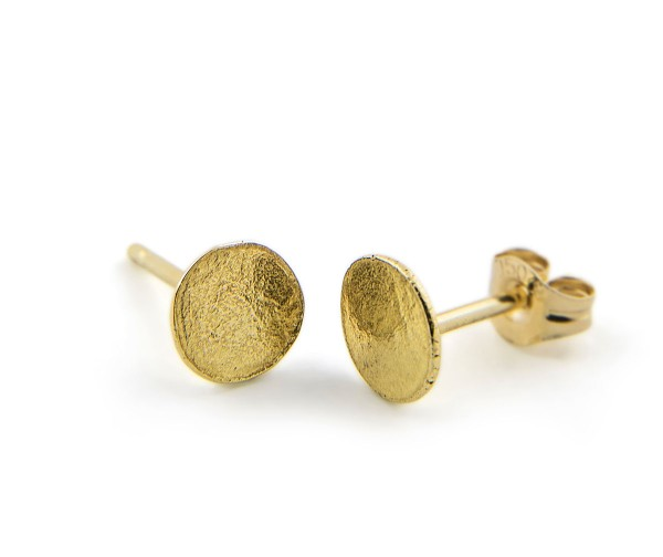 Ripple Stud Gold From Latham Neve Contemporary Jewellery Collections Uk