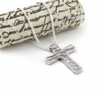 Latham & Neve Collections - Dune - Dune Cross  Pendant on Snake Chain