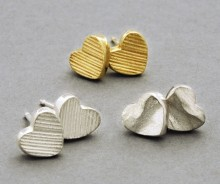 Latham & Neve Collections - Dune - Dune Heart stud earrings