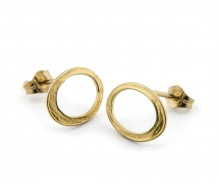 Latham & Neve Collections - Ripple - Halo Studs small 18ct gold