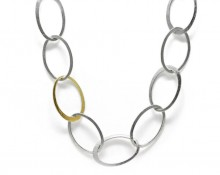 Latham & Neve Collections - Halo - Halo Necklace silver with gold