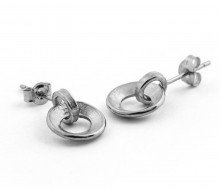 Latham & Neve Collections - Coco - Ripple duo drop earrings silver