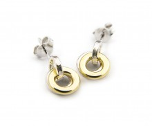 Latham & Neve Collections - Ripple Duo - Ripple Hoop Studs silver/18ct