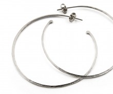Latham & Neve Collections -  - Ripple Hoop Earrings Large