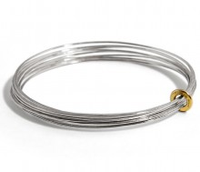 Latham & Neve Collections - Total Honesty - Ripple Multi Bangle Silver with 18ct gold