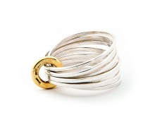 Latham & Neve collections - ripple - ripple-multi-ring-silver-with-18ct-gold