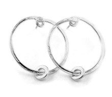 Latham & Neve Collections - Ripple Sprung - Ripple Sprung Hoop Earrings All silver