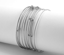 Latham & Neve Collections - Ripple - Ripple Sprung Bangle All silver