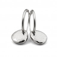 Latham & Neve Collections - Spira - Ripple Pebble hoops