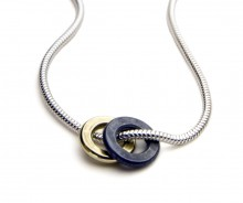 Latham & Neve Collections - Ripple - Ripple Snake oxidized Necklace