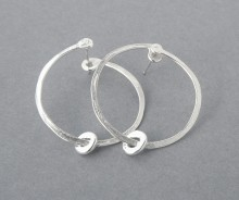 Latham & Neve Collections - Halo - Ripple Sprung Hoop Earrings All silver