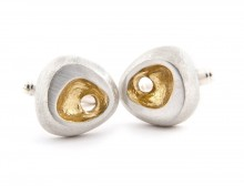 Latham & Neve Collections - Spira - Rock Cufflinks with gold detail