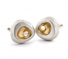 Latham & Neve Collections - Dune - Rock Cufflinks with gold detail