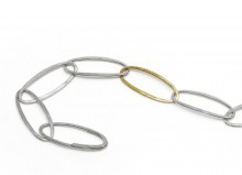 Latham & Neve Collections - Halo - Super Nova Bracelet silver with gold