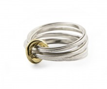 Latham & Neve Collections - Total Honesty - Total Honesty Multi Ring Silver with 18ct gold